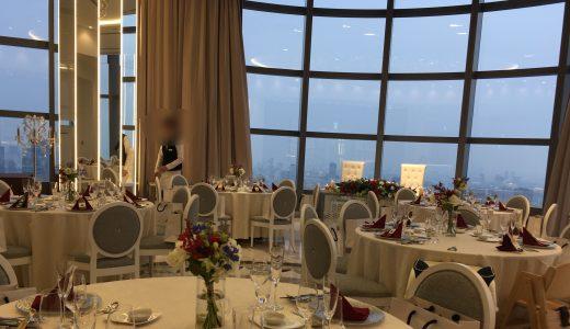 【口コミ】グランブリエ東京で結婚式!カレッタ汐留47階で絶景ウエディング
