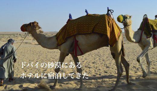 ドバイの砂漠にあるホテル「バブ アル シャムス デザート リゾート&スパ」に宿泊してきた